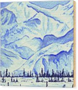 Winter's White Blanket Wood Print