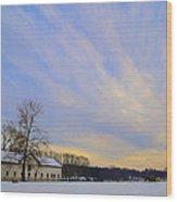 Wintertime At Widener Farms Wood Print