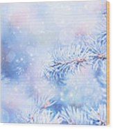 Wintertime Background Wood Print