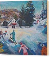 Wintertime Fun Wood Print