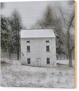 Wintertime In Valley Forge Wood Print by Bill Cannon