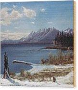 Wintertime Lake Tahoe In Winter The Sierra Nevada California Wood Print