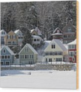 Wintery Alton Bay Nh Wood Print