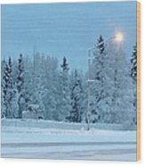 Wintery Blues Wood Print