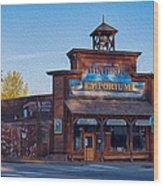 Winthrop Emporium Wood Print by Omaste Witkowski