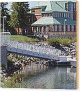 Winthrop Harbor Shore Wood Print