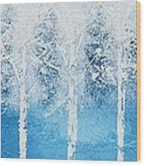 Wintry Mix Wood Print by Linda Bailey