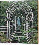 Wire Garden Arch Wood Print