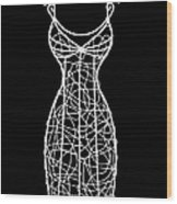 Wire Mannequin Wood Print
