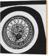 Wire Wheel Wood Print