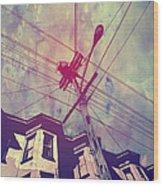 Wires Wood Print