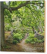 Wiscasset Sunken Garden Wood Print