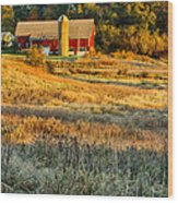 Wisconsin - Country Morning Wood Print