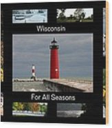 Wisconsin For All Seasons Wood Print
