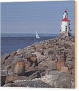 Wisconsin Point Lighthouse 1 K Wood Print