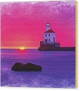 Wisconsin Point Lighthouse Wood Print
