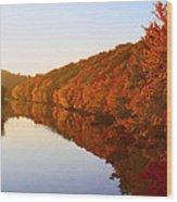 Wisconsin River Sunrise Wood Print