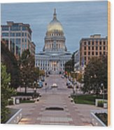 Wisconsin State Capitol Building Wood Print