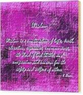 Wisdom Enhanced Violet Wood Print