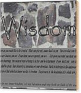 Wisdom In Stone Inspirational Wood Print