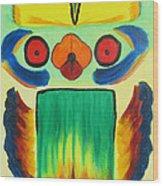 Wise Bird Totem Wood Print