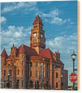 Wise County Courthouse Wood Print