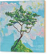 Wish Bone Tree Wood Print