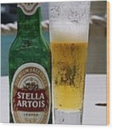 Cheers From Stella Wood Print