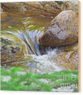 Wishing Waterfall Wood Print