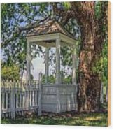 Wishing Well At Yorktown Wood Print