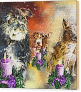 Wishing You A Blessed Advent Wood Print