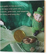 Wishing You A Happy St. Patricks Day Wood Print