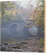 Wissahickon Creek And Bells Mill Road Bridge Wood Print
