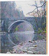 Wissahickon Creek And Valley Green Bridge Wood Print