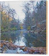 Wissahickon Creek - Fall In Philadelphia Wood Print