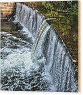 Wissahickon Dam At Ridge Avenue - Side View Wood Print