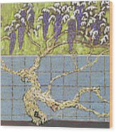 Wisteria Wood Print by Don Perino