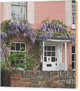 Wisteria House Wood Print