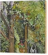 Wisteria In Blooms Wood Print