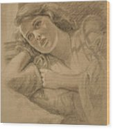 Wistful - Drawing Wood Print