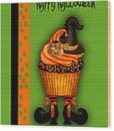 Witch Cupcake 3  Wood Print