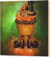 Witch Cupcake 4  Wood Print