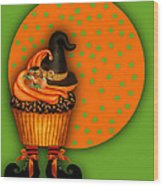 Witch Cupcake 5 Wood Print