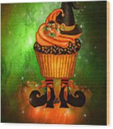 Witch Cupcake 6 Wood Print