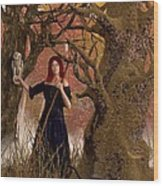 Witch Of The Autumn Forest  Wood Print