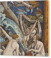 Witches Wood Print by Hans Baldung Grien