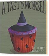 Witches Hat Tasty Morsel Cupcake Wood Print