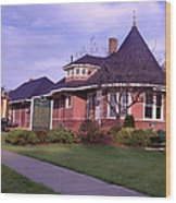 Witch's Hat Railroad Depot Wood Print
