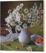 With Camomiles And Merry Wood Print