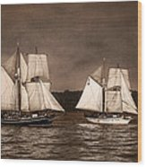 With Full Sails Wood Print by Dale Kincaid